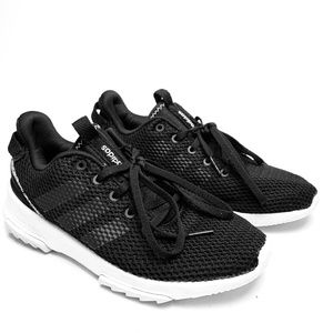 ADIDAS Black White Gym Work Out Running Shoes sz 7